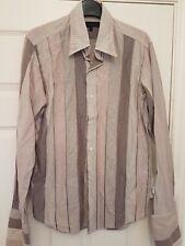 mens TED BAKER grey stripe shirt size 3 UK M smart casual