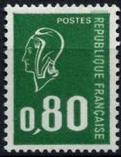 France 1971-6 SG#1904b 80c Emerald Marianne Typo Definitive Phosphor MNH#D64776