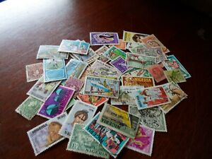 Collection lot 50 different stamps of Nigeria