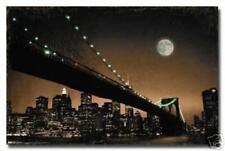 NYC NEW YORK CITY BROOKLYN BRIDGE AT NIGHT POSTER NEW 34X22 FREE SHIPPING
