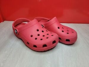 CROCS Classic Kids Unisex Youth Slip On Clogs Shoes Red Size 12