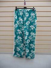 Bodyflirt Trousers Green White Size 18 Floral Detail  BNWOT  G047