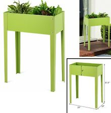 Garden Bed Outdoor Raised Planter Elevated Plant Box Flowers Vegetables Stand 10