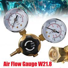 Argon CO2 Gas Bottle Pressure Regulator MIG TIG Welding Flow Meter Gauge W21.8