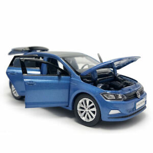 1:32 VW All New Polo Plus 2019 Model Car Diecast Toy Vehicle Sound Blue Kid Gift
