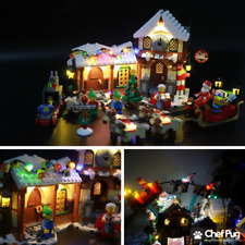 LED Light Kit ONLY With USB Hub For Lego 10245 Santas Workshop Lighting Bricks