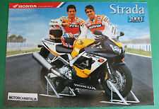 HONDA MOTO MOTORCYCLE POSTER CBR900  XR ADVERTISING PUBBLICITA BROCHURE DEPLIANT
