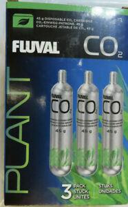 FLUVAL 3-PACK CO2 45g DISPOSABLE CO2 CARTRIDGE AQUARIUM BRAND NEW