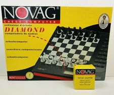 Novag Diamond Electronic Chess Computer + Adapter RISC No 9303 NO GAME PIECES