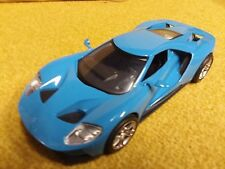 2017 Ford GT  Grabber Blue/Black Seats Revell 1/24 Scale Model with Display Case