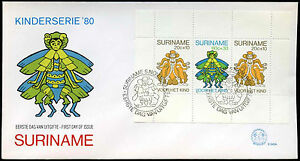 Suriname 1980 Child Welfare M/S FDC First Day Cover #C30217