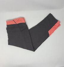 Athleta Womens M Stripes Balance Capri Cropped Leggings Style Shale/Coral