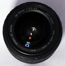 Sigma UC Zoom 28-70mm f3.5-4.5 Lens - Pentax Mount, Fair Pre-Owned Shape AS-IS