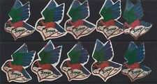 1974 Island of TONGA 12s 14s & 50s AIR MAIL Parrot Bird Shape Stamps x 10 Used