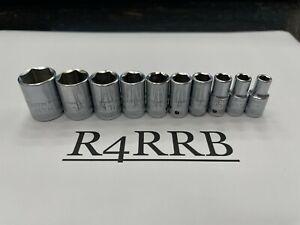"""Stahlwille Tools GERMANY 1/4"""" Drv 3/16""""-9/16"""" SAE Shallow 6pt Chrome Socket Set"""