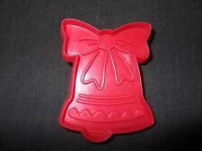 Christmas Cookie Cutter Cut Out Plastic Holiday Bell With Ribbon Icing Fondant
