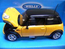 1/24 Welly Mini Cooper amarillo-negro 22075w