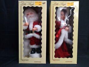 Vintage Rennoc Santa's Best Little People Animated Lighted Caroler & Santa