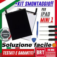 PANNELLO LCD x APPLE IPAD MINI 1 WIFI 3G A1432 A1454 A1455 DISPLAY SCHERMO+KIT S