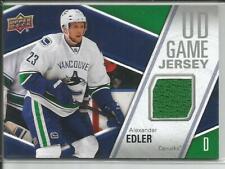 11-12 Upper Deck Game Jersey Alexander Edler Jersey #GJAE Canucks