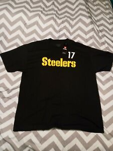 NFL Team Apparel Mens Womens Pittsburgh Steelers Mike Wallace 17 T Shirt Size 2X