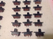 10x Mini Slide Switch 6-Pin 2-Position DPDT On/On Slider Switches Black Tiny