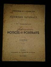 Assemblée nationale - 1re législature - Notices et portraits 1959