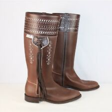 El Estribo Womens Brown Goodyear Welted Leather '1018 Castana' Riding Boot SZ 8