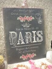 Shabby Chic / Vintage / French / PARIS Plaque