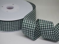 Gingham Check Ribbon 25mm in 2m or 3m cut lengths free postage