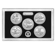 2018 S San Francisco Silver Reverse Proof Quarter Set NO BOX & COA 5 Coins