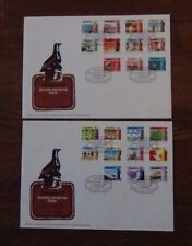 Zimbabwe 1985 National Infrastructure set on two First Day Covers Used