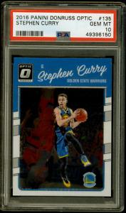 2016-17 Panini Donruss Optic Stephen Curry PSA 10 Gem #135 Golden State Warriors