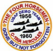 USAF DEMO TEAM PATCH, THE FOUR HORSEMEN,C-130s,GONE BUT NOT FORGOTTEN 1956-60  Y