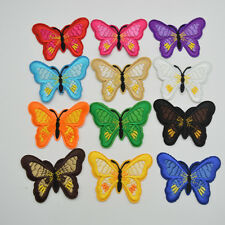 36Pcs Butterfly Embroidered Applique Iron On Sew On Patch Mixed Color for DIY