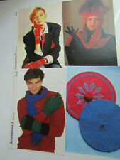 Job-Lot Knitting Patterns for Adults Gloves & Hats