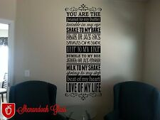 You are the Peanut To My Butter, Twinkle To My Eye, Shake To My Bake Wall Decal