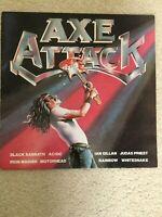 VARIOUS - AXE ATTACK - 1980 UK RELEASE - VINYL, LP, COMPILATION, REISSUE