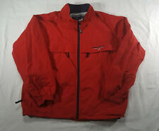 Vintage Ralph Lauren Polo Sport Red Full Zip Mesh Lined  Jacket XL SPELL OUT 90s