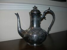 Vittoriano antico ROBERTS & CO Shoreham opere SHEFFIELD 1593 Britannia Tea Pot