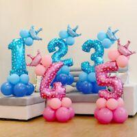 décoration gonflable rose et bleu chiffres l'hélium nombre ballon en aluminium