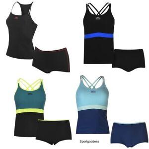 Slazenger Ladies Tankini Swim Suit Swimming Costume Swimmers Sizes 6-22