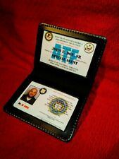 Atf, Fbi, Dea & Other Pvc Id Card Set, High End Cosplay Id Cards & Wallet!