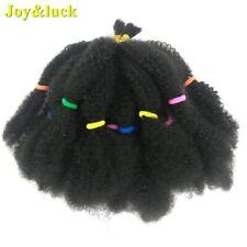 Joy&luck Short Afro Kinky Curly Crochet Braiding Synthetic Ombre Hair