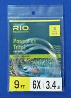 Rio Products Powerflex Trout Tapered Leader Freshwater 9FT 6X 3.4 LB 3 Pack