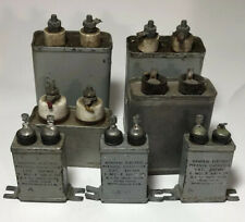 Vintage Oil Capacitors Sprague, Aerovox, GE, Lot Of 7