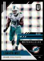 2018 PANINI UNPARALLELED SUPERPLAID CAMERON WAKE 93/150 MIAMI DOLPHINS #115