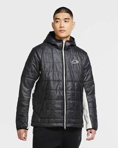 Nike Bomber Piumino Giubbino Sportswear Synthetic-Fill Nero Uomo