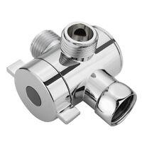 3 way Adjustable Shower Diverter Valve Water Separator Shower Tee Adapter  SALE-