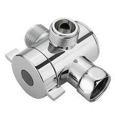 3 way Diverter Valve Water Separator Shower Tee Adapter Adjustable Shower
